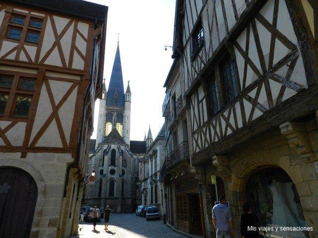 casas de entramado de madera, Dijon, Borgoña, Francia
