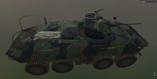 Arma3にドイツ軍車両を追加するMODのルクス装甲偵察者