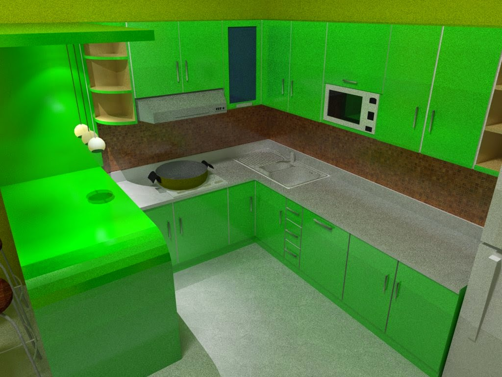Kitchen set minimalis model L