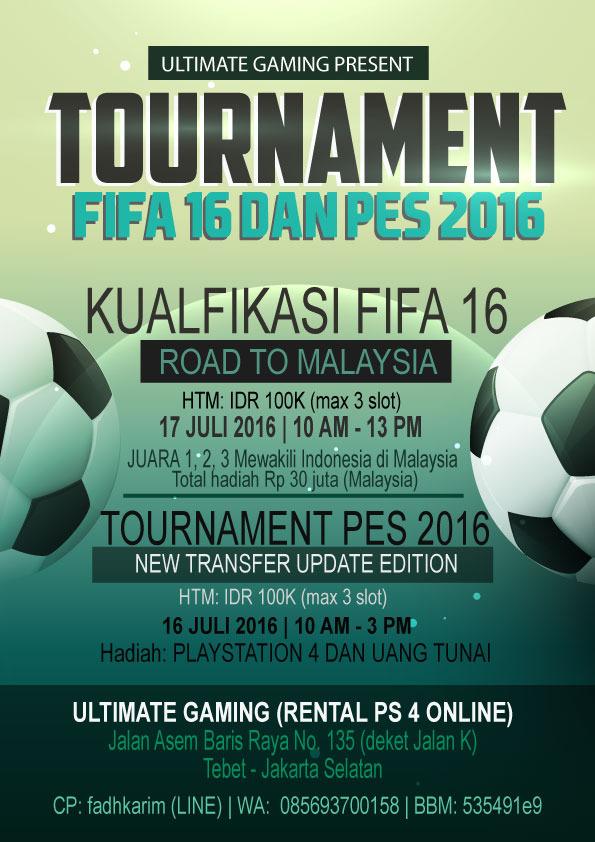Kompetisi PES 2016 di Jakarta Juli 2016 Spesial Kualifikasi Road to Malaysia
