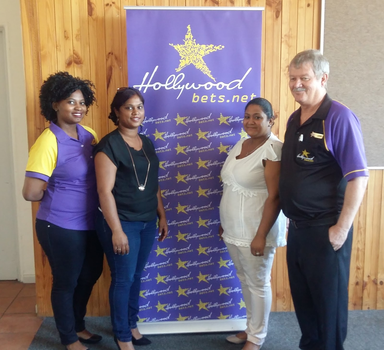 Staff members at Badisa are thankful for a donation from Hollywoodbets Paarl