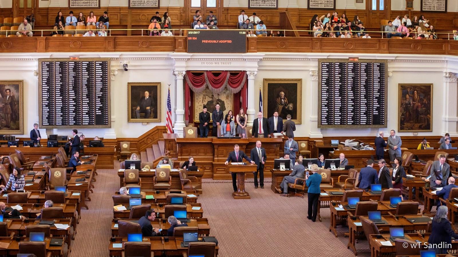 District 20 State Representative Terry Wilson Presenting House Resolution #  524 On The House Floor. Buckholts Seniors Sam Munoz, Dakota Hubnik, ...