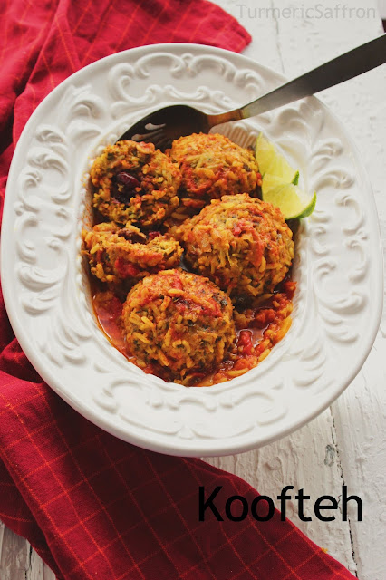 Iranian koofteh (Meatballs)