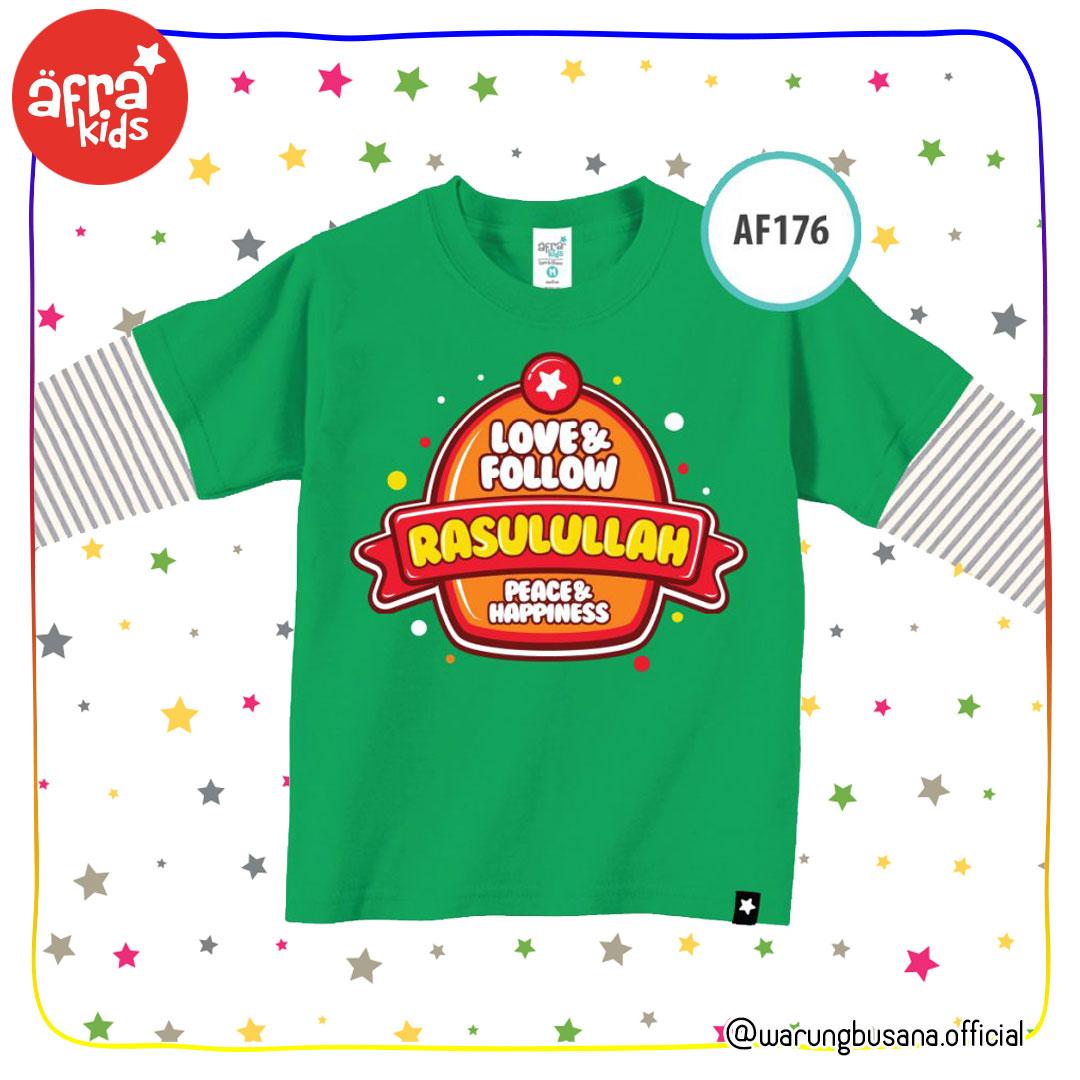 Afrakids Kaos Anak AF176 Love and Follow Rasulullah