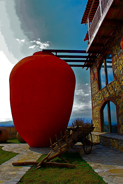 The Giant Kvevri at the Twins vineyard