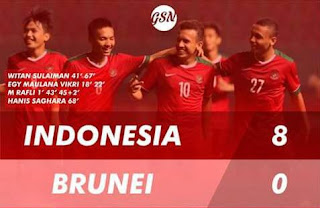 Brunei Darusalam vs Indonesia 0-8