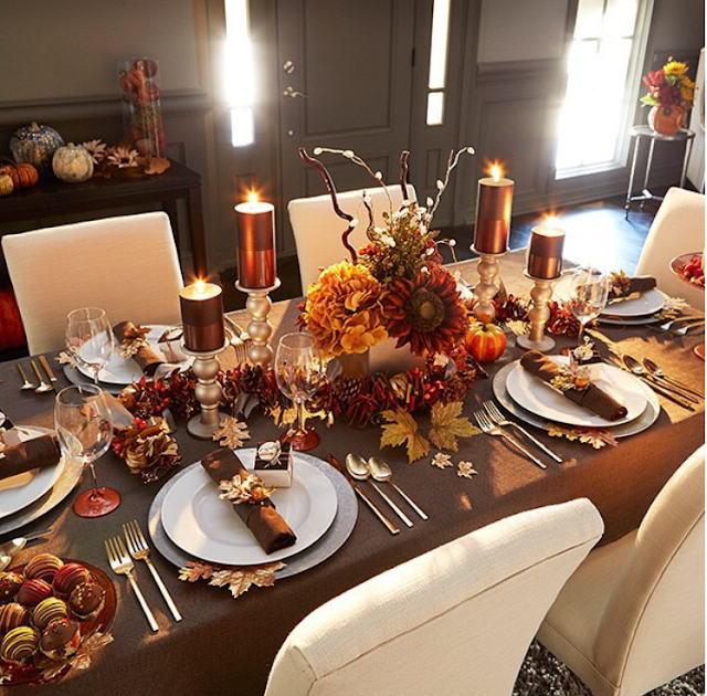 DECORACIÓN MESA THANKSGIVING DAY