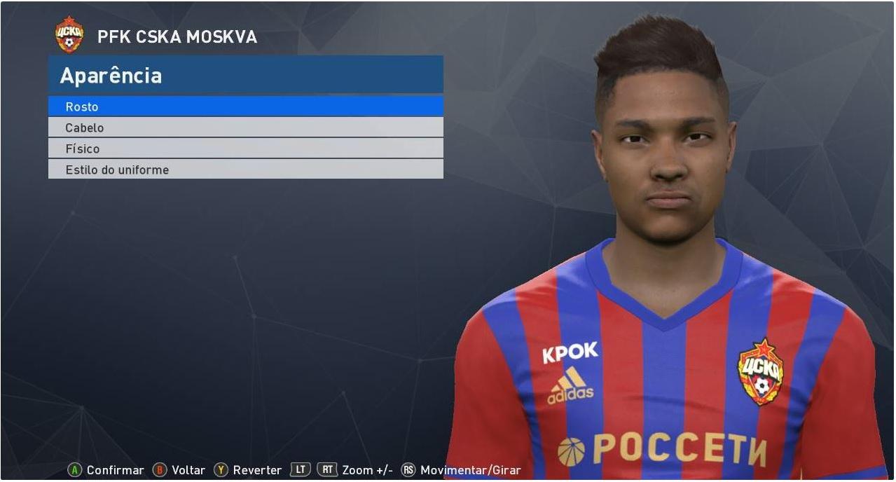 PES 2017 Vitinho (CSKA) Face by JR Facemaker