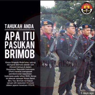 Brimob: Pasukan paramiliter Polri yang low profile