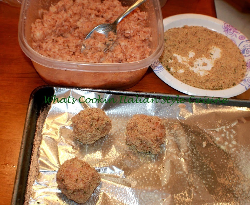 Baked Rice Balls
