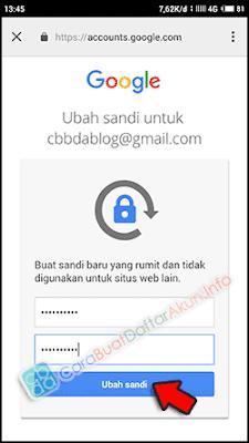 lupa kata sandi akun google reset password dengan hp