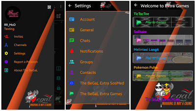 BBM MOD SOSMED 8in1 + EXTRA GAMES 4in1 Base 3.0.1.25 APK BBM Play to Games By The Begal