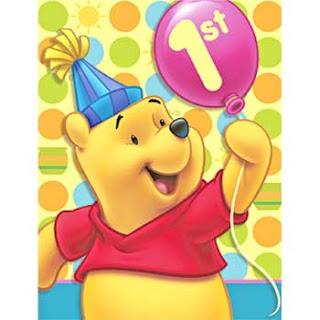 Winnie the pooh y su primer cumpleaños