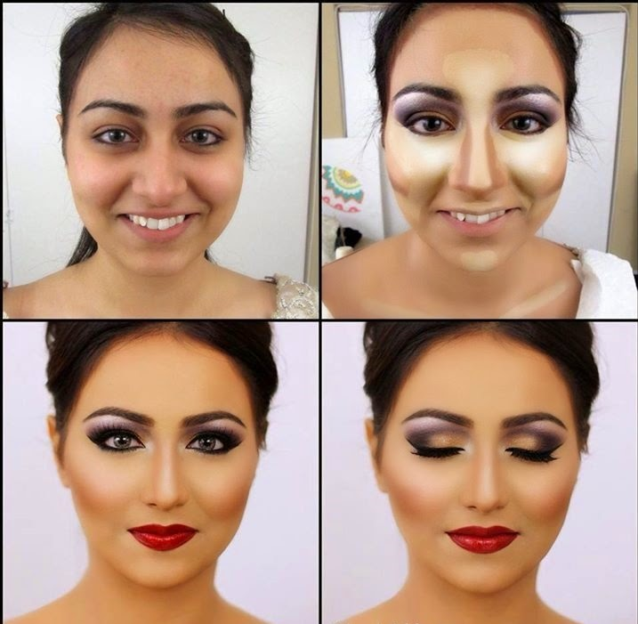 Best Way To Apply Foundation/Base On Your Face Tutorial Pics ~ Just Bridal