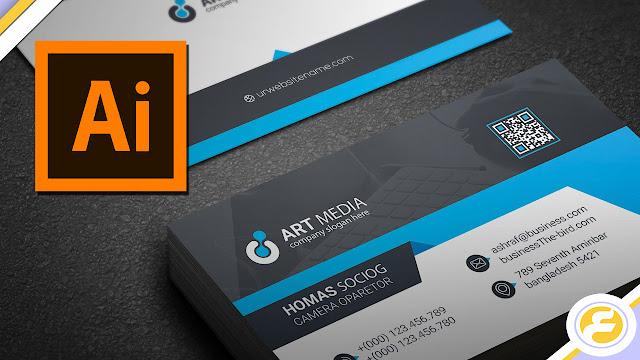 كيف تصميم بطاقة عمل إحترافية قابلة للطباعة ببرنامج الإليستريتور خطوة بخطوة