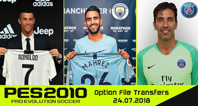 PES 2010 Option File Season 2018/2019