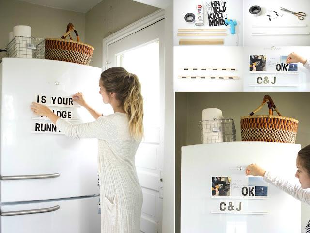 Repisas con imanes para los refrigeradores