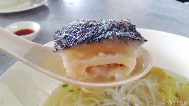 Mee Hoon Sup Ikan Sabah Keratang Sayur Masin, Sabah Keratang