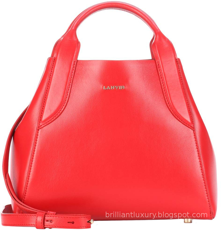 Brilliant Luxury ♦ Lanvin small red cabas leather tote bag