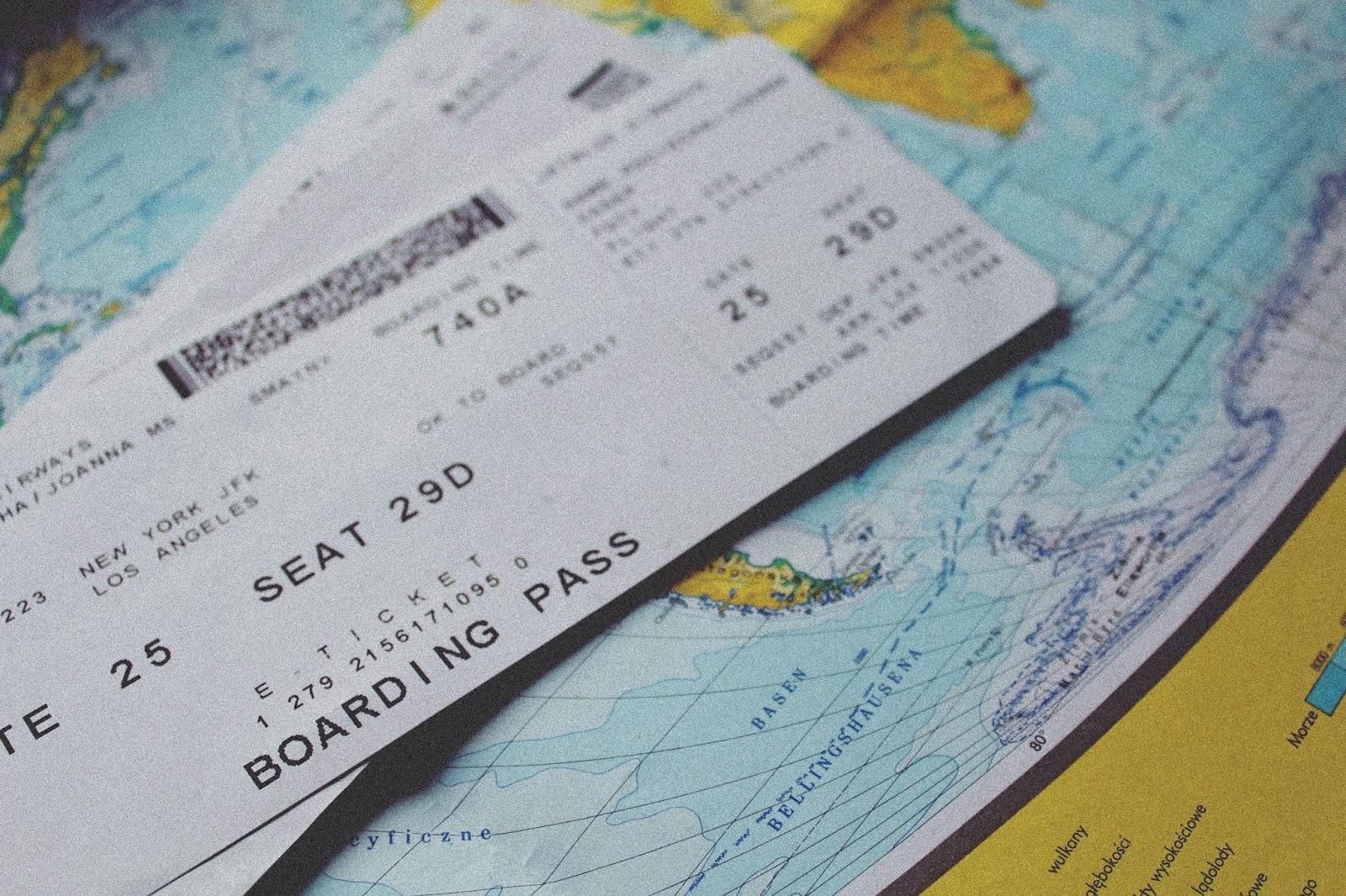 bilet na lot new york - los angeles, pamiątkowy