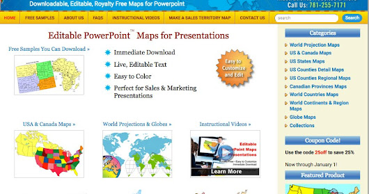 New Maps For Design Website for Editable PowerPoint Maps
