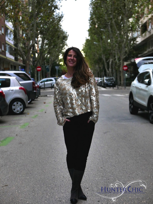 hunterchic by marta-marta halcon de Villavicencio-como combinar lentejuelas-fashion blog  style