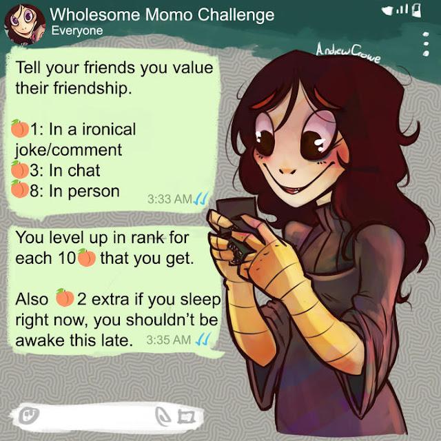Cùng momo thử thách nhắn tin