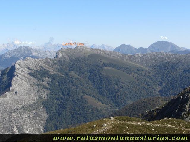 Ruta de los Arrudos y Corteguerón: Desde el Ubales, vista de Maciédome, Canto del Osu y Ten