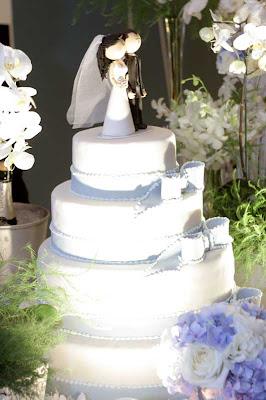 2 Detalhes de um casamento em azul e branco...