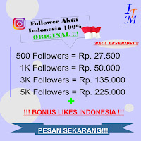 Jasa Tambah Follower Real Instagram Aktif 100% Akun Original Indonesia Murah