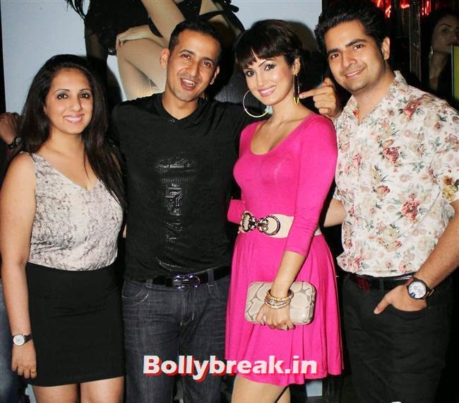 Munisha Khatwani, Manmeet, Nisha Rawal and Karan Mehra, Sunny Leone, Gauhar & Sana Khan at Baby Doll Success Party