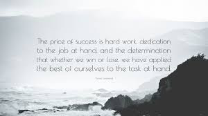 Motivational quote of the day by Vince Lombardi