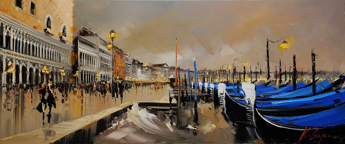 14-Bella-Venezia-Kal-Gajoum-Paintings-of-Dream-Like Cities-of-the-World-www-designstack-co