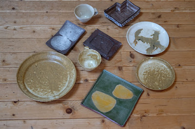 白日窯 ひとつ石で使う予定の器、お皿、コーヒーカップ