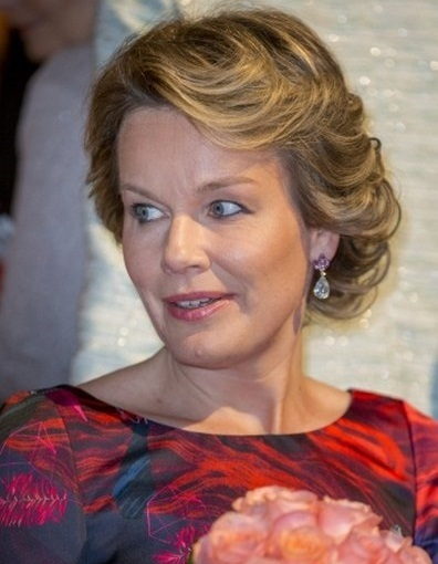Queen Mathilde attend last semi finals of Queen Elisabeth Piano Music Competition 2016. Queen Mathilde wore Haus Covdeyre Dress