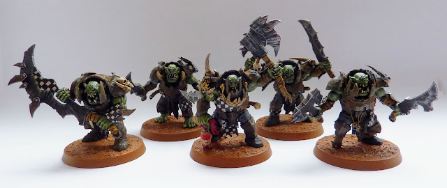 Ironjawz Brutes with two brute choppas