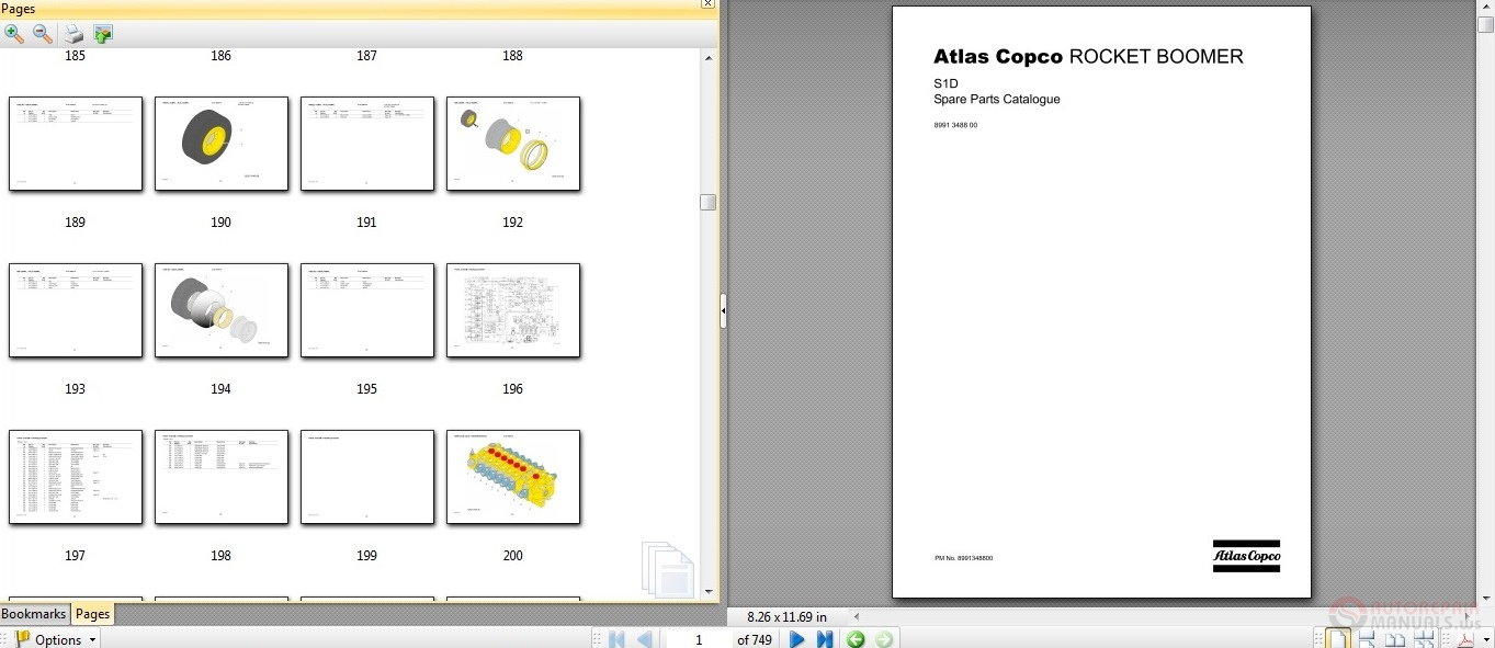 Free Auto Repair Manual : Atlas Copco ROCKET BOOMER S1D