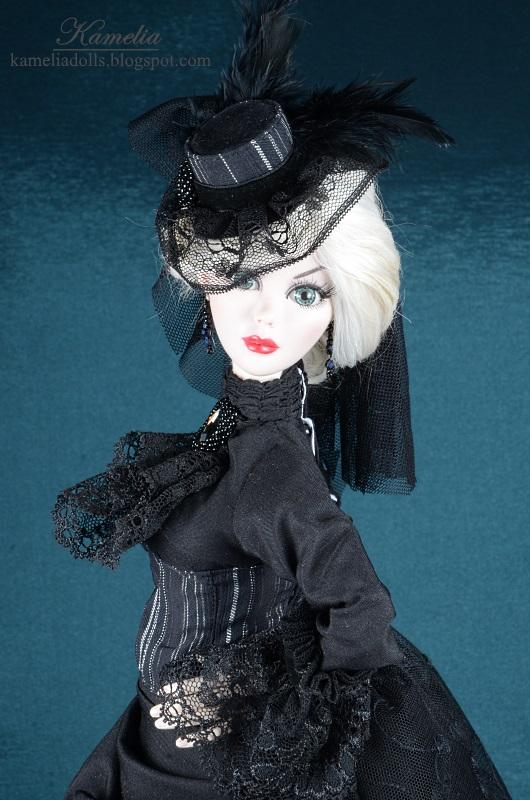 Victorian dress for Evangeline Ghastly doll.