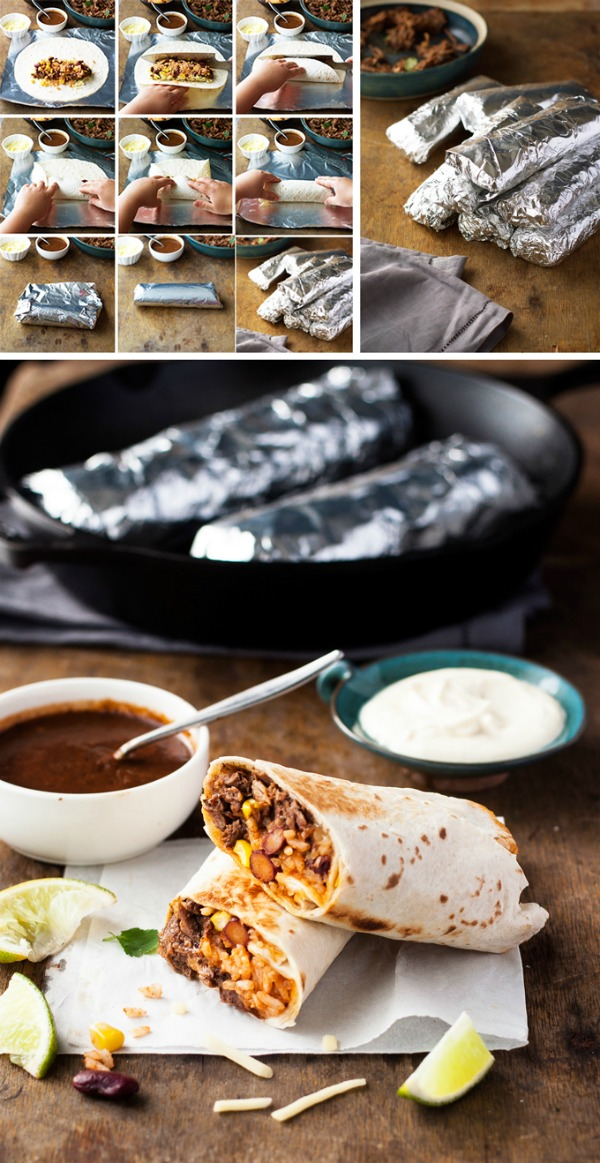 Freezer Friendly Shredded Mexican Beef Burritos from Recipe Tin Eats