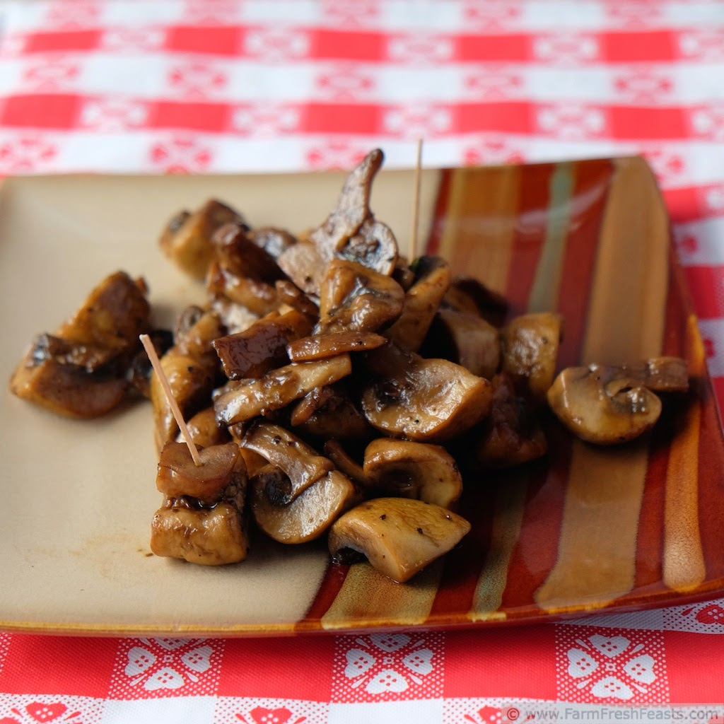 Grilled Mushrooms (Full Metal Basket) | Farm Fresh Feasts