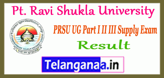 PRSU Pt. Ravi Shukla University Supplementary UG Result