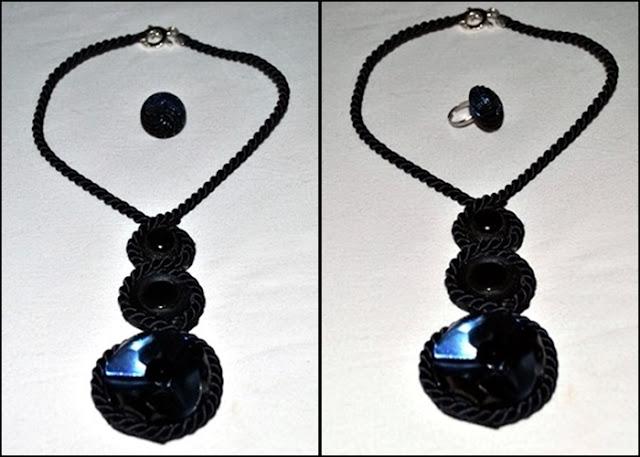 DIY tutorial como hacer un collar con cordón y botones