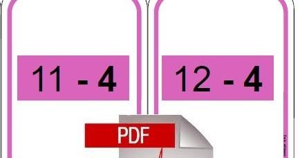 Cole r f rences cartes tables de soustraction - Tables de soustraction a imprimer ...