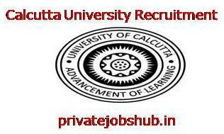 Calcutta University Recruitment
