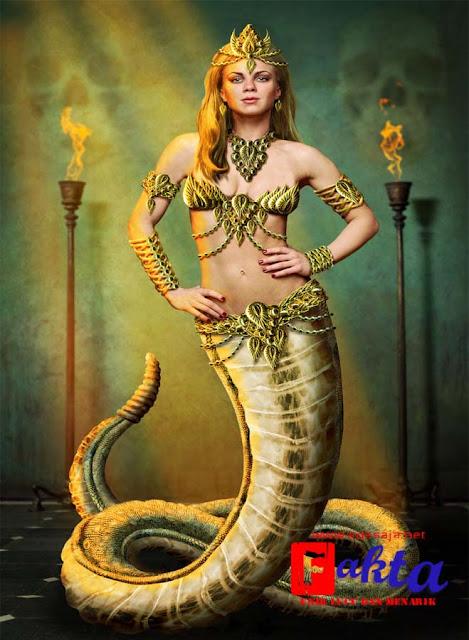 lamia mahluk mitologi yang sangat cantik yang bertubuh setengah manusia setengah ular