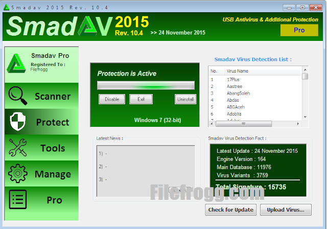 Smadav Pro 2015 Rev 10.4 Terbaru Full Keygen + Serial Key