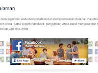 Cara Memasang Widget Facebook Like Box / Facebook Page Plugin di Blogger