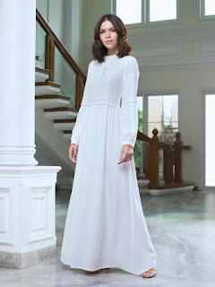 Gamis Minimalis Outfit Lebaran 2018