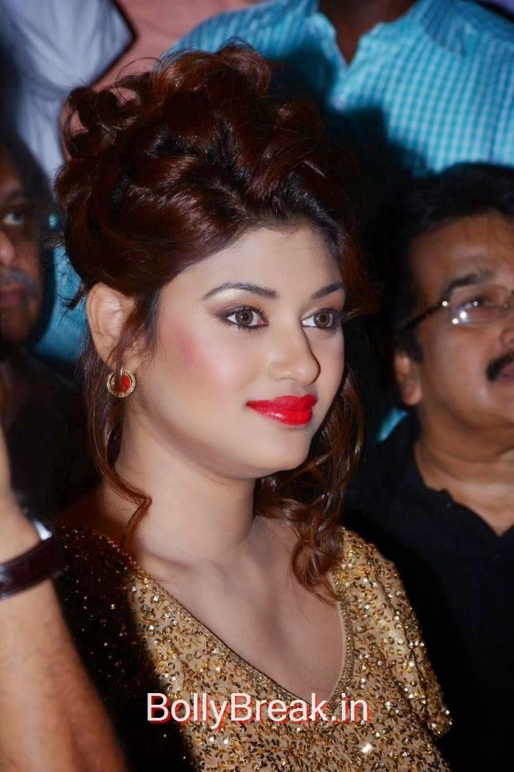 Oviya Pics, Oviya Hot Pics in golden dress from Sandamarutham Movie