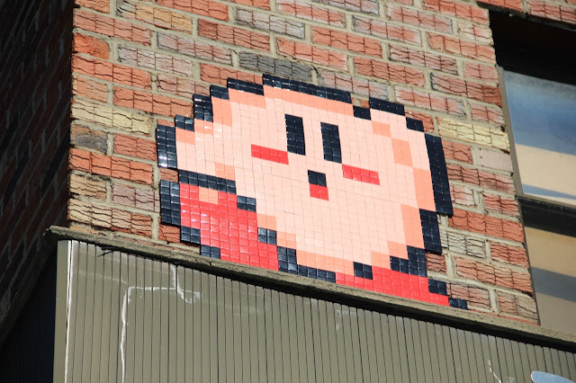 Mosaic Street Art By Space Invader On The Streets Of New York City, USA. 11